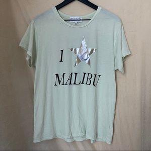 """Wildfox """"I Star Malibu"""" Mint Green T Shirt"""